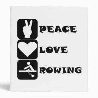 Rowing del amor de la paz