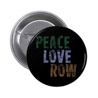 Rowing del amor de la paz de RowChick Pin