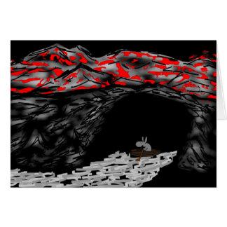 rowing del burro en la cueva tarjeton