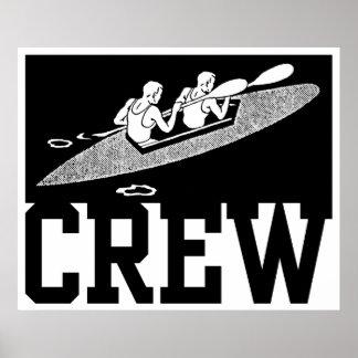 Rowing del equipo poster