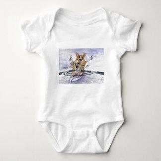 Rowing del perro del Corgi Galés Body Para Bebé