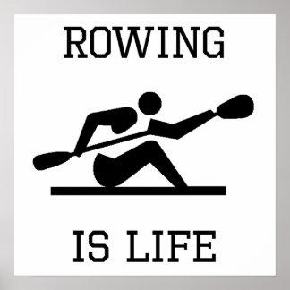 Rowing Is Life Print
