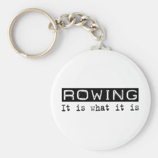 Rowing It Is Basic Round Button Keychain