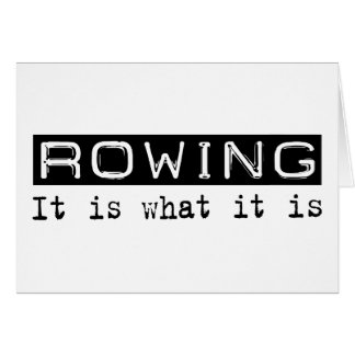 Rowing It Is Card