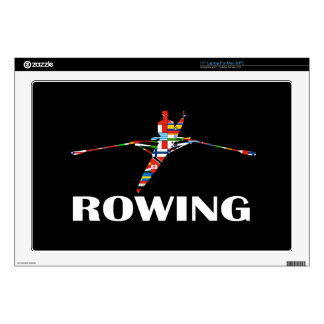 Rowing Laptop Decal