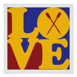 Rowing Love Poster