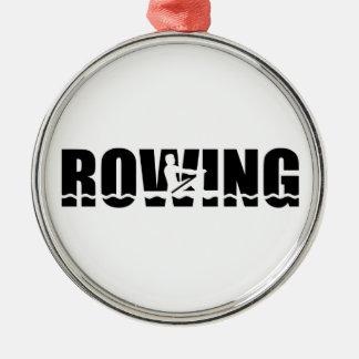 Rowing Metal Ornament