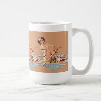 Rowing modelo del barrido de las mujeres taza