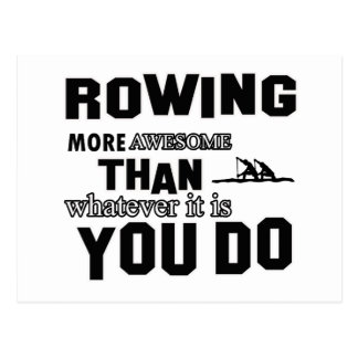 Rowing  more awesome postcard