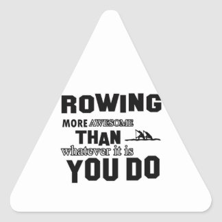 Rowing  more awesome triangle sticker