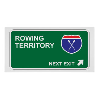 Rowing Next Exit Poster