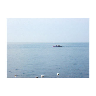 Rowing on Lake Geneva Canvas Print