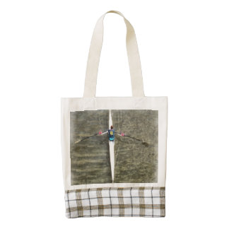 Rowing on the river zazzle HEART tote bag