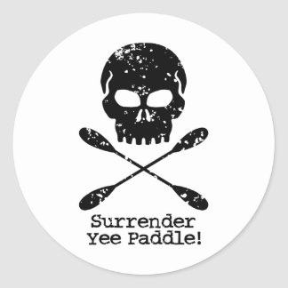 Rowing Pirate Classic Round Sticker