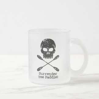 Rowing Pirate 10 Oz Frosted Glass Coffee Mug