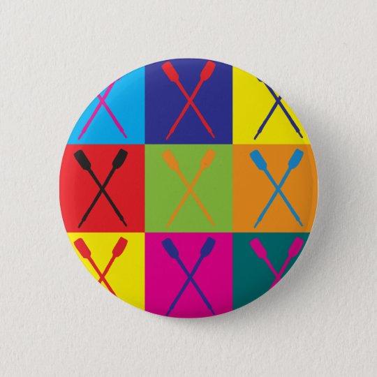 Rowing Pop Art Button
