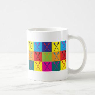 Rowing Pop Art Classic White Coffee Mug