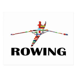 Rowing Postcard
