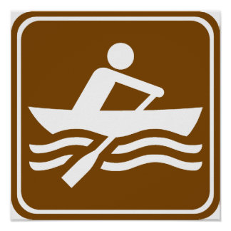 Rowing Recreational Highway Sign Posters
