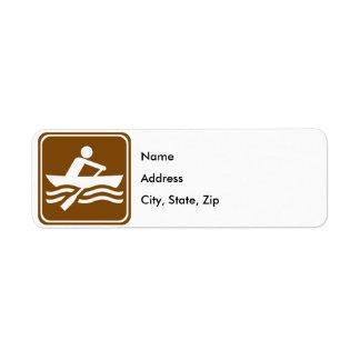 Rowing Recreational Highway Sign Return Address Label