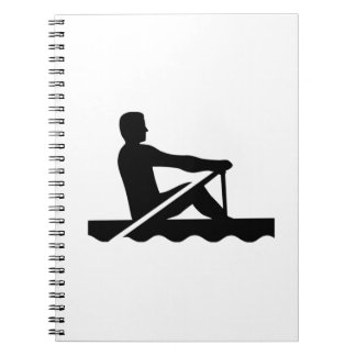 Rowing rower spiral note book