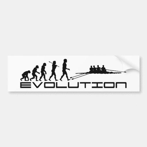 Rowing Rower Water Sport Evolution Art Car Bumper Sticker