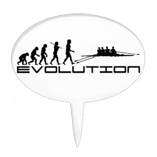 Rowing Rower Water Sport Evolution Art Cake Topper