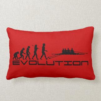 Rowing Rower Water Sport Evolution Art Lumbar Pillow