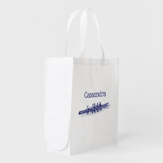 Rowing Rowers Crew Team Water Sports Grocery Bag