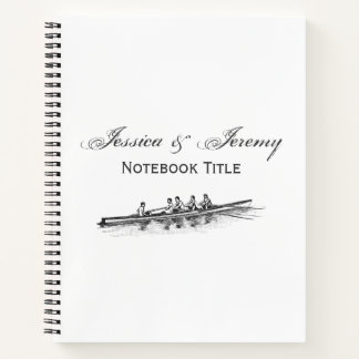 Rowing Rowers Crew Team Water Sports Notebook