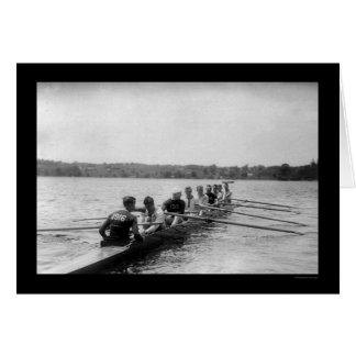 Rowing Shell que compite con 1915 de Yale Tarjeta De Felicitación