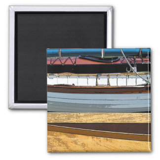 Rowing Skiffs 2 Inch Square Magnet
