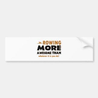 Rowing sports designs bumper sticker