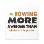 Rowing sports designs memo pad