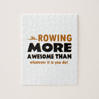 Rowing sports designs jigsaw puzzle