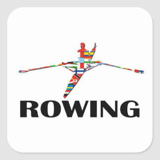 Rowing Square Sticker