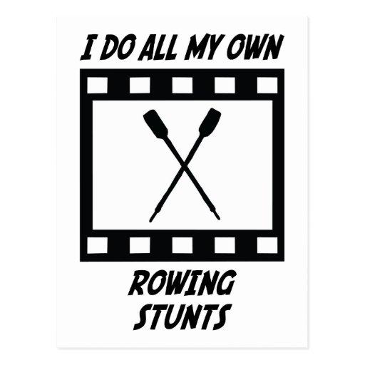 Rowing Stunts Post Card
