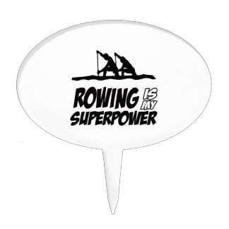 Rowing Superpower Designs Cake Pick