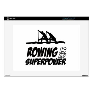 Rowing Superpower Designs Laptop Decal