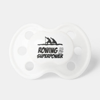Rowing Superpower Designs Pacifier