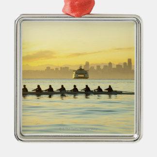 Rowing Team 2 Metal Ornament
