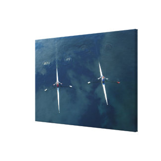 Rowing Team Canvas Print
