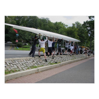 Rowing Team Carrying Boat Poster