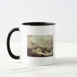 Rowing to rescue shipwrecked mug