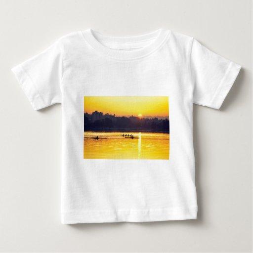 Rowing Training At Sunset Tshirts
