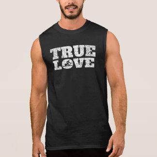 Rowing verdadero del amor (apenado) remera sin mangas