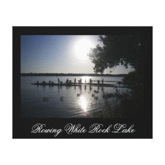 Rowing White Rock Lake - Wrapped Canvas Print