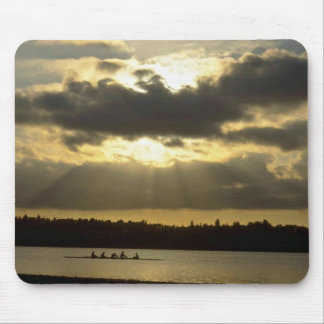 Rowing Workout Before Sun Sets Mouse Pad