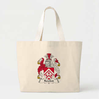 Rowlett Family Crest Tote Bags