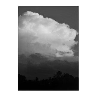 Rowlett Stormy Sky in Black & White Acrylic Print